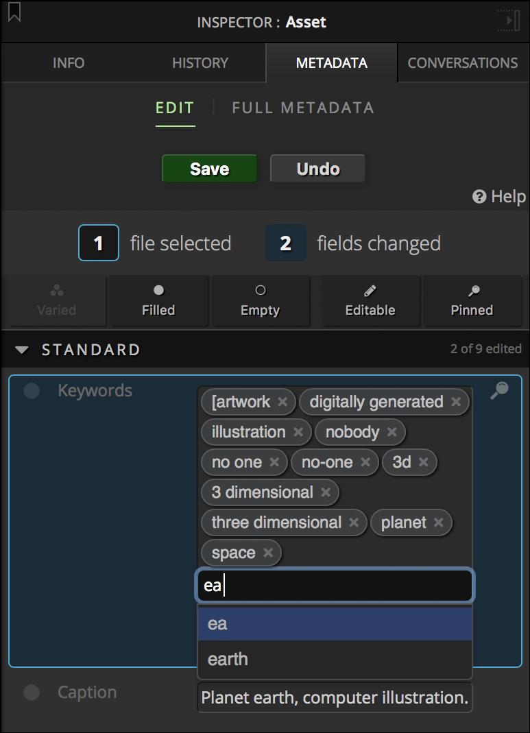 Editing Metadata Terms
