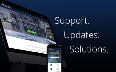 Support. Updates. Solutions. DF Studio's new website.